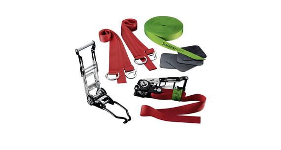 Slackline-Tools Air'n Jump Set Slackline 25m grøn/rød